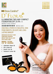 D'Flora llluminating Two-Way Compact Foundation SPF25 PA++